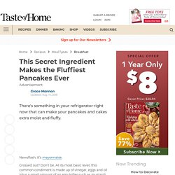 The Secret Ingredient For the Fluffiest Pancakes Ever