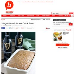 5 Ingredient Guinness Quick Bread