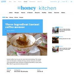 Three ingredient instant coffee mousse