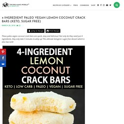 Lemon Coconut Crack Bars