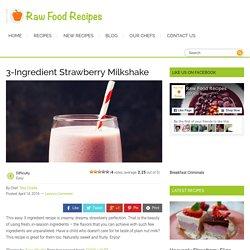 3-Ingredient Strawberry Milkshake