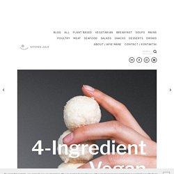 4-Ingredient Vegan Coconut Bliss Balls