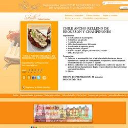 Ingredientes para preparar CHILE ANCHO RELLENO DE REQUESÓN Y CHAMPIÑONES