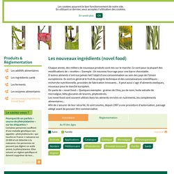 SYNPA - Les nouveaux ingrédients (novel food).