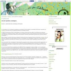 Liste des ingrédients comédogènes - La Fée Colchique