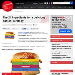The 24 ingredients for a delicious content strategy