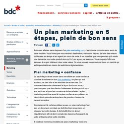 5 ingrédients essentiels d'un plan marketing -
