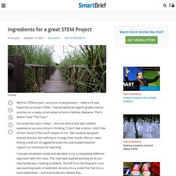 Ingredients for a great STEM Project