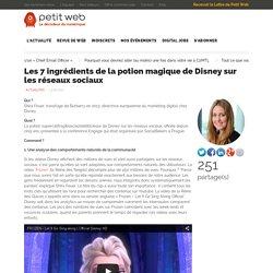 Les 7 ingrédients de la potion magique de Disney sur les réseaux sociaux