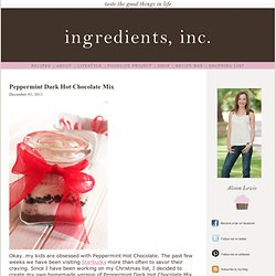 Peppermint Dark Hot Chocolate Mix