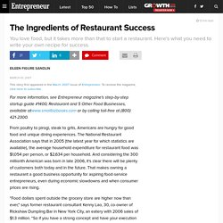 The Ingredients of Restaurant Success