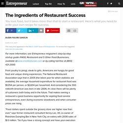 The Ingredients of Restaurant Success
