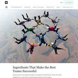 Ingredients That Make the Best Teams Successful - The Helm - Medium