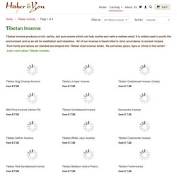 Tibetan Incense handmade in the Himalayas from natural ingredients