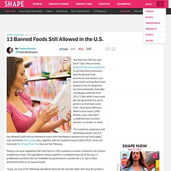Banned Ingredients: Unhealthy Food Additives in US Food