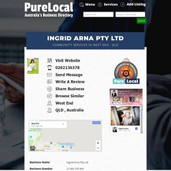 Ingrid Arna Pty Ltd In West End , QLD , Community Services