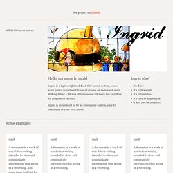 Ingrid – a fluid CSS layout system