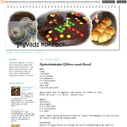 Sjokoladekake (24cm rund form)