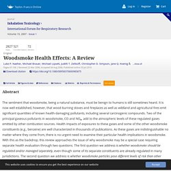 Woodsmoke Health Effects: A Review: Inhalation Toxicology: Vol 19, No 1