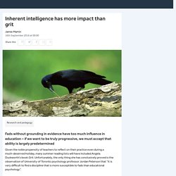Inherent intelligence has more impact than grit