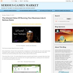 The Inherent Value Of Running Your Business Like A Serious Game