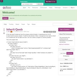 Inherit Qweb