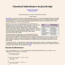 Classical Inheritance in JavaScript