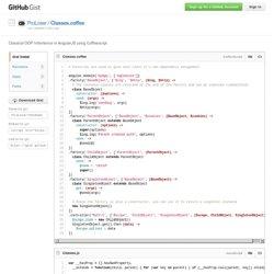 Classical OOP Inheritence in AngularJS using Coffeescript