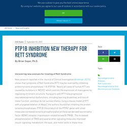 PTP1B inhibition new therapy for Rett Syndrome