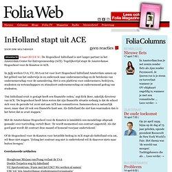 Foliaweb: InHolland stapt uit ACE