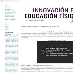 Iniciación a la programación didáctica y de proyectos