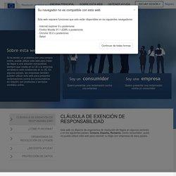 Página inicial - Resolución de litigios en línea