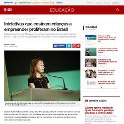 Iniciativas que ensinam crianças a empreender proliferam no Brasil - notícias em Educação
