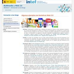 Algunos ejemplos de iniciativas Web 2.0