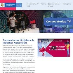 Convocatorias dirigidas a la Industria Audiovisual