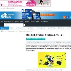 Das Init-System Systemd, Teil 2
