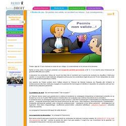Initiadroit.com - Etudes de cas : Un permis non valide, un accident sur mineur... Les conséquences...