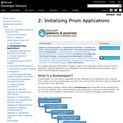 Chapter 2: Initializing Prism Applications