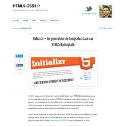 Initializr – Un générateur de templates basé sur HTML5 Boilerplate
