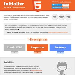 Initializr - Start your HTML5 project in 15 seconds!