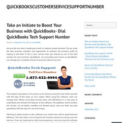 Take an Initiate to Boost Your Business with QuickBooks- Dial QuickBooks Tech Support Number