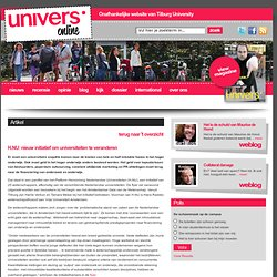 H.NU: nieuw initiatief om universiteiten te veranderen