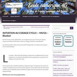 INITIATION AU CODAGE CYCLE I – MS/GS – Bluebot – Ecole numérique