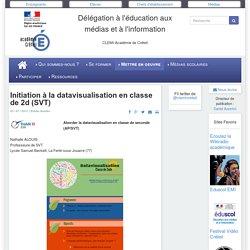 Initiation à la datavisualisation en classe de 2d (SVT)