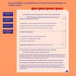 Cours d'initiation à la didactique du Français Langue Etrangère en contexte syrien