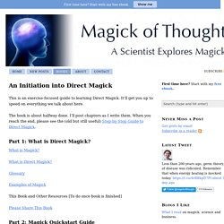 An Initiation into Direct Magick — Magick of Thought