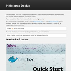 Initiation à Docker