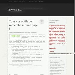 Archives Initiation à la recherche documentaire