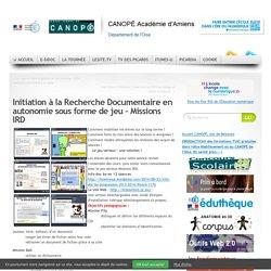 Initiation à la Recherche Documentaire en autonomie sous forme de jeu – Missions IRD