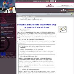 Collège Lucien Millet - Doué-la-Fontaine - Initiation à la Recherche Documentaire
